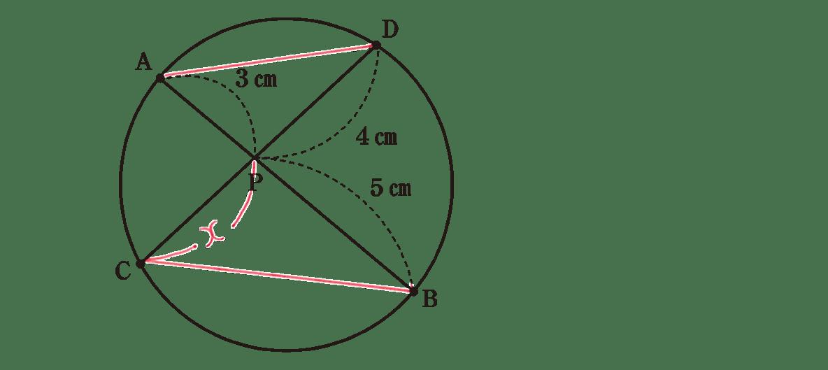 中3 数学250 練習の答え 問題の図に補助線を引いたもの