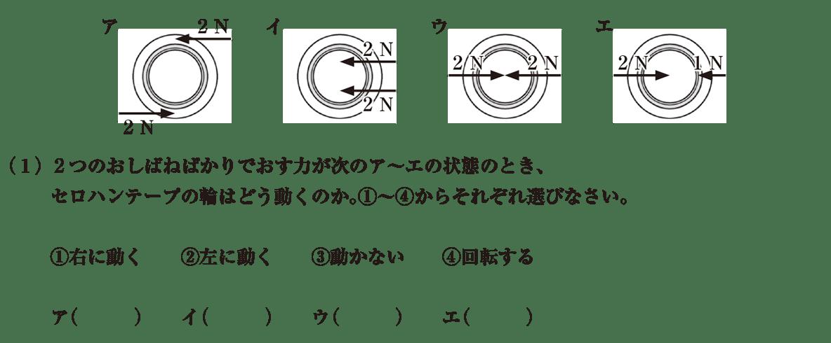 中3 物理6 練習1(1) 答えなし