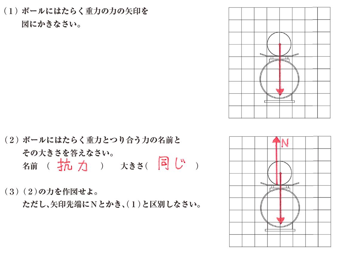 中3 物理練習2 答えあり