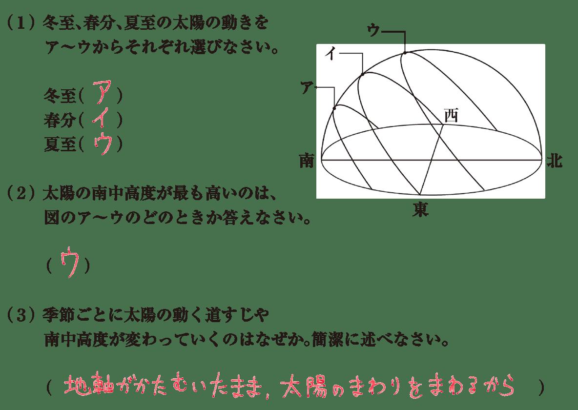 中3 地学6 練習2 答えあり
