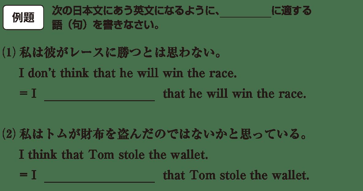 高校英語文法 動詞19・20の例題(1)(2) アイコンあり