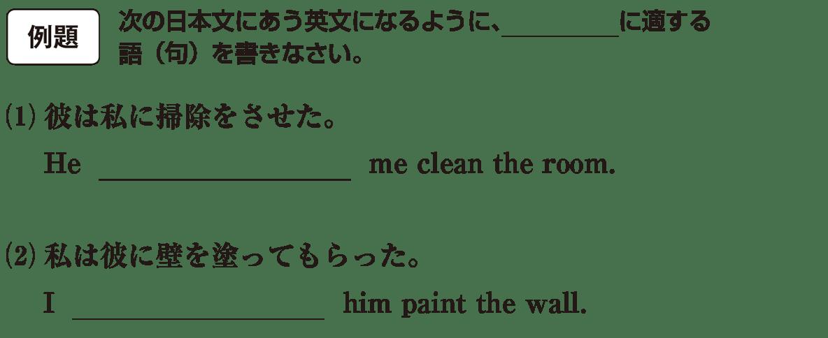 高校英語文法 動詞23・24の例題(1)(2) アイコンあり