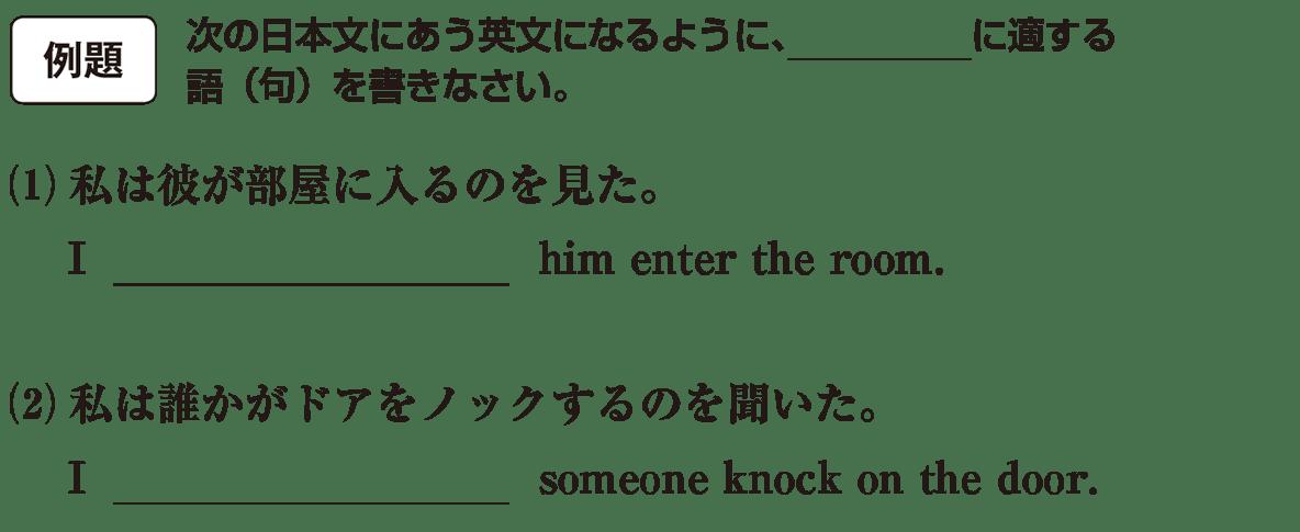 高校英語文法 動詞25・26の例題(1)(2) アイコンあり