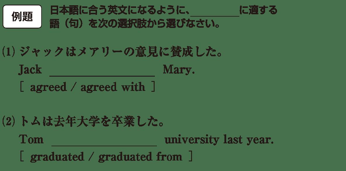 高校英語文法 動詞3・4の例題(1)(2) アイコンあり