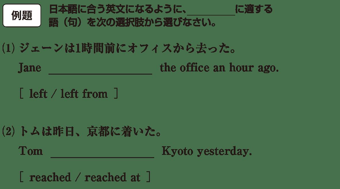 高校英語文法 動詞5・6の例題(1)(2) アイコンあり