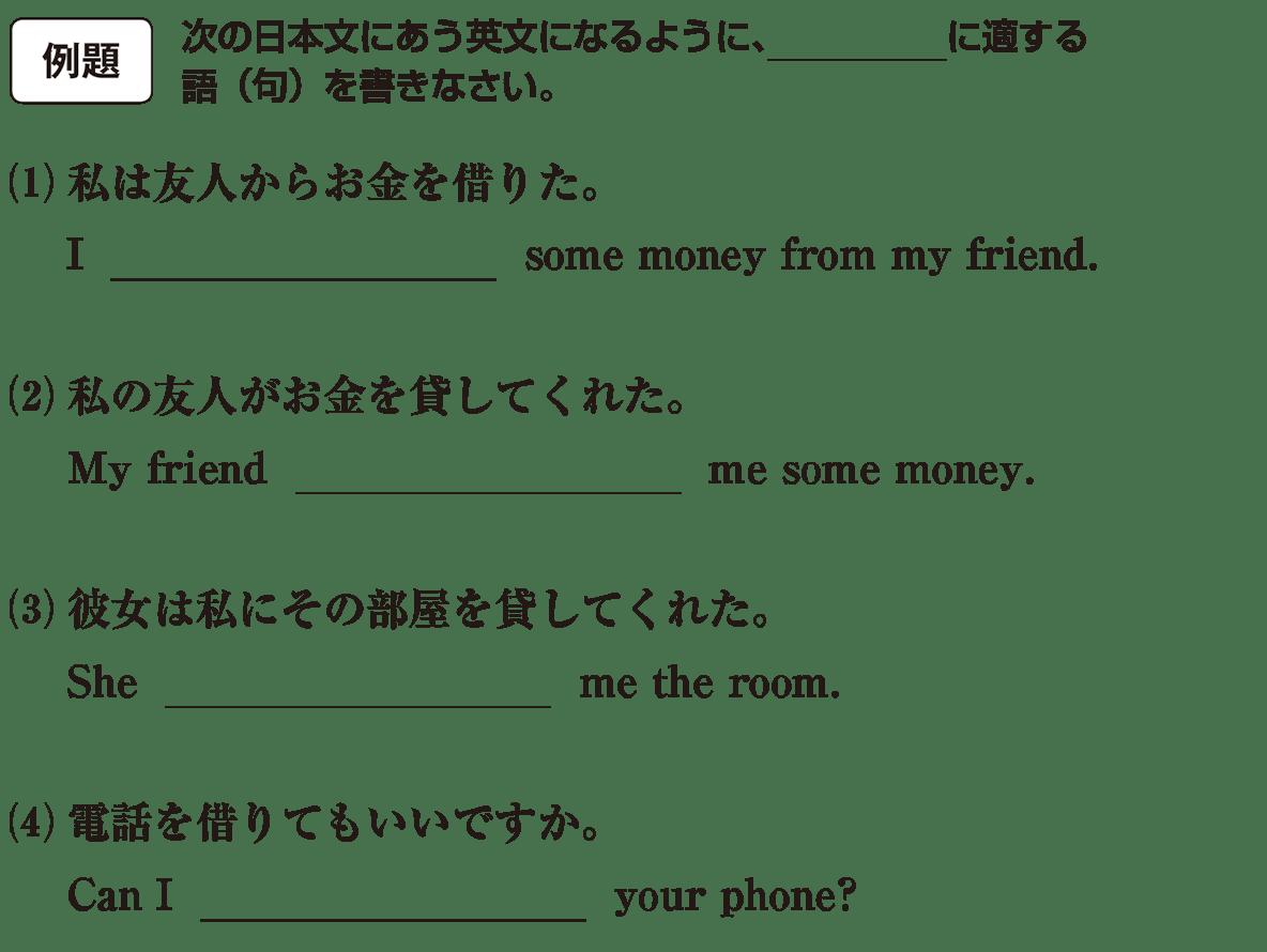 高校英語文法 動詞15・16の例題(1)(2)(3)(4) アイコンあり