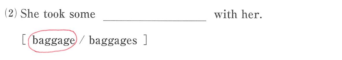 高校英語文法 名詞・冠詞3・4の練習(2)の答え