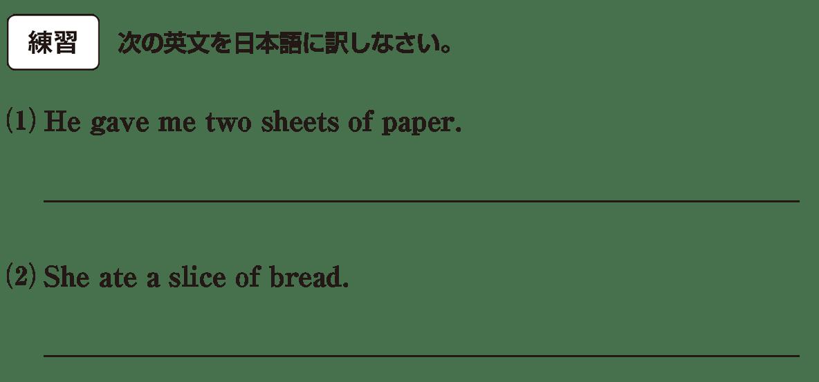 高校英語文法 名詞・冠詞5・6の練習(1)(2) アイコンあり