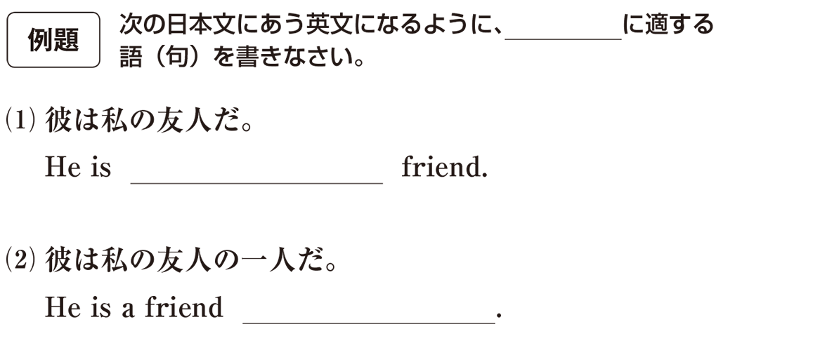 高校英語文法 名詞・冠詞7・8の例題(1)(2) アイコンあり