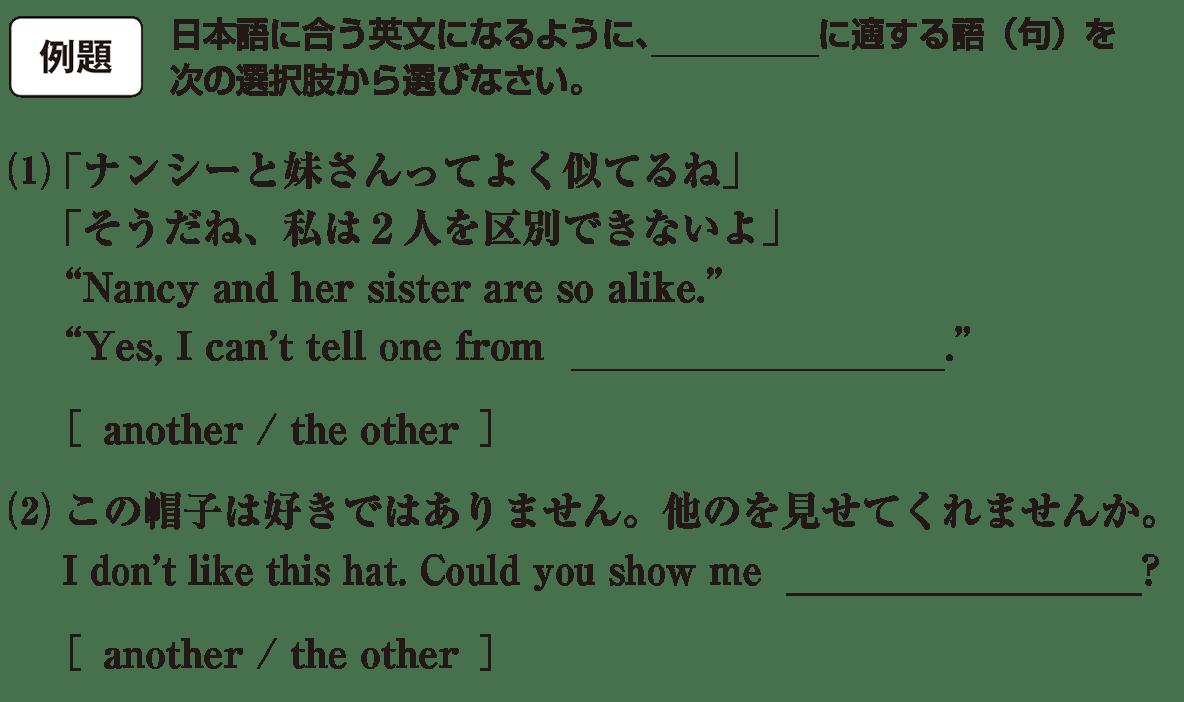 高校英語文法 代名詞19・20の例題(1)(2) アイコンあり