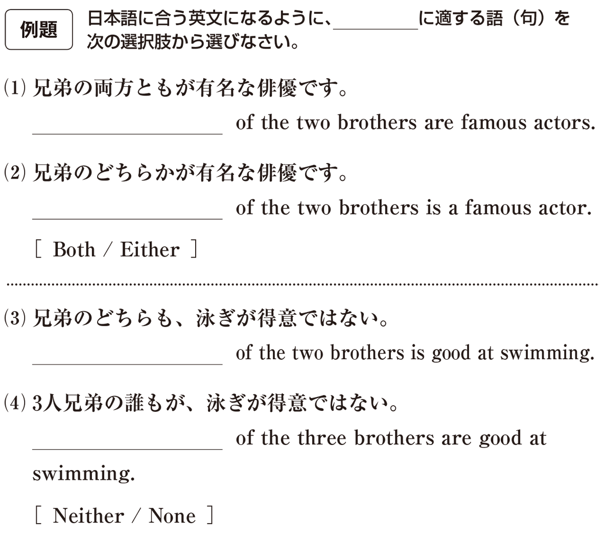高校英語文法 代名詞21・22の例題(1)(2)(3)(4) アイコンあり