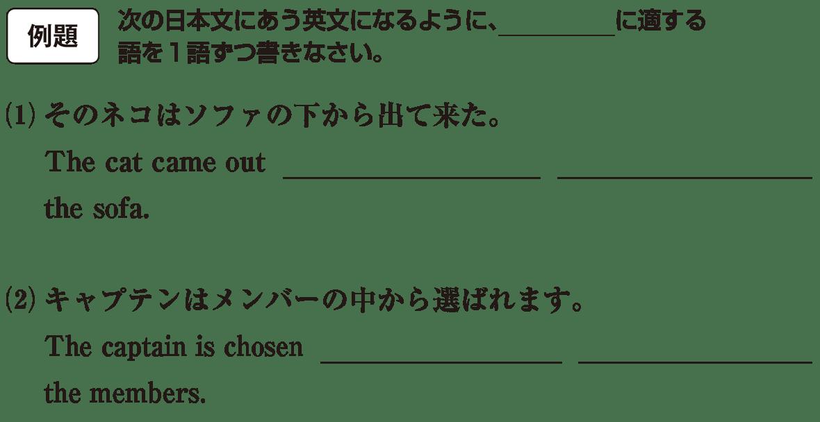 高校英語文法 前置詞23・24の例題(1)(2) アイコンあり