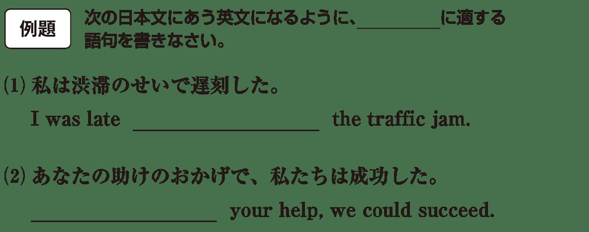 高校英語文法 前置詞25・26の例題(1)(2) アイコンあり