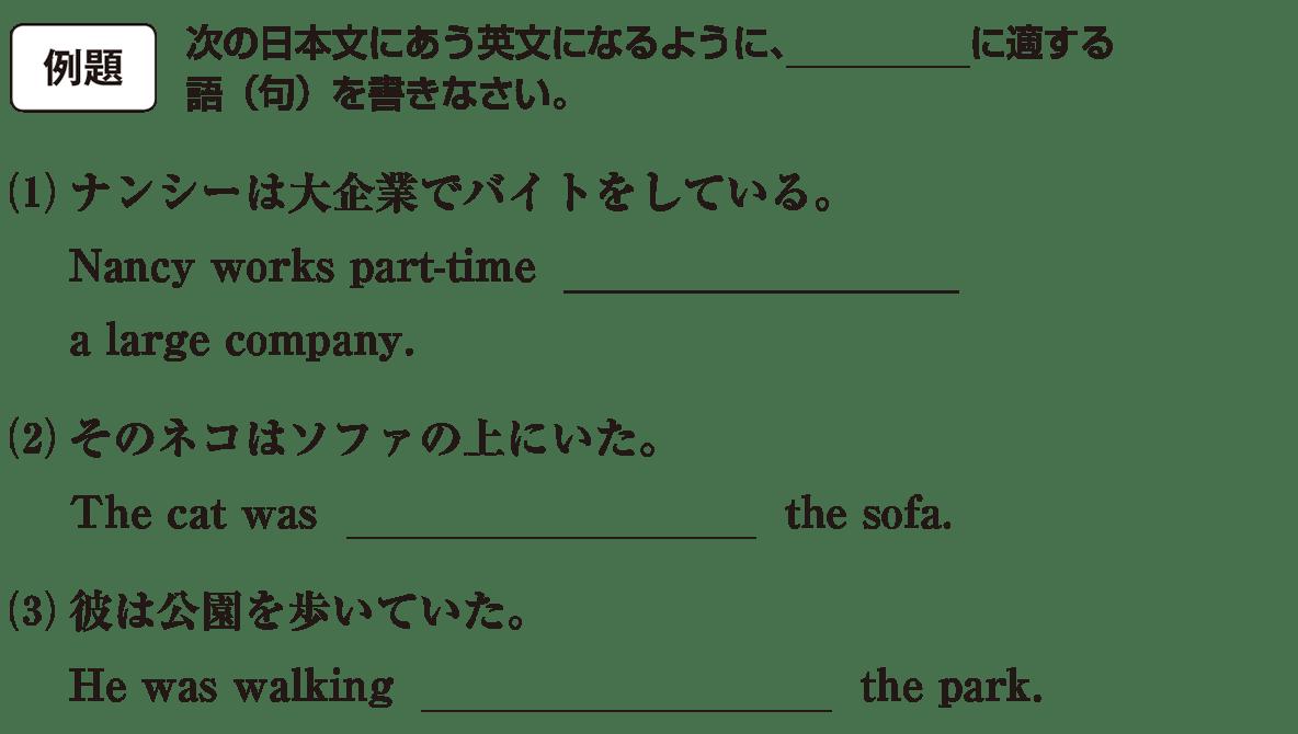 高校英語文法 前置詞1・2の例題(1)(2)(3) アイコンあり