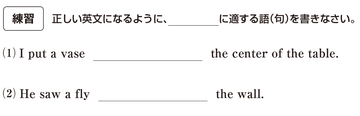 高校英語文法 前置詞1・2の練習(1)(2) アイコンあり
