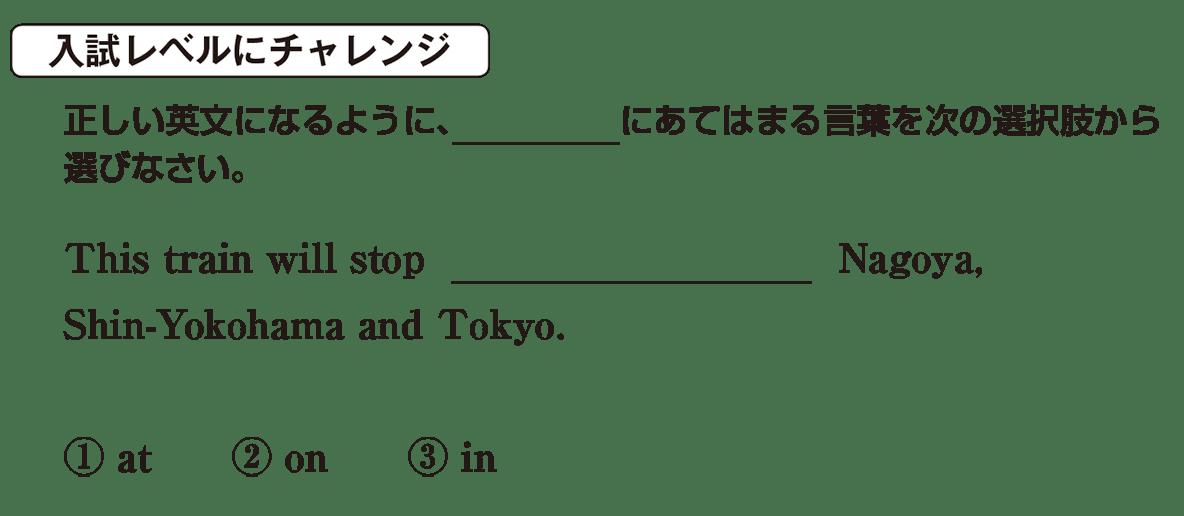 高校英語文法 前置詞1・2の入試レベルにチャレンジ アイコンあり