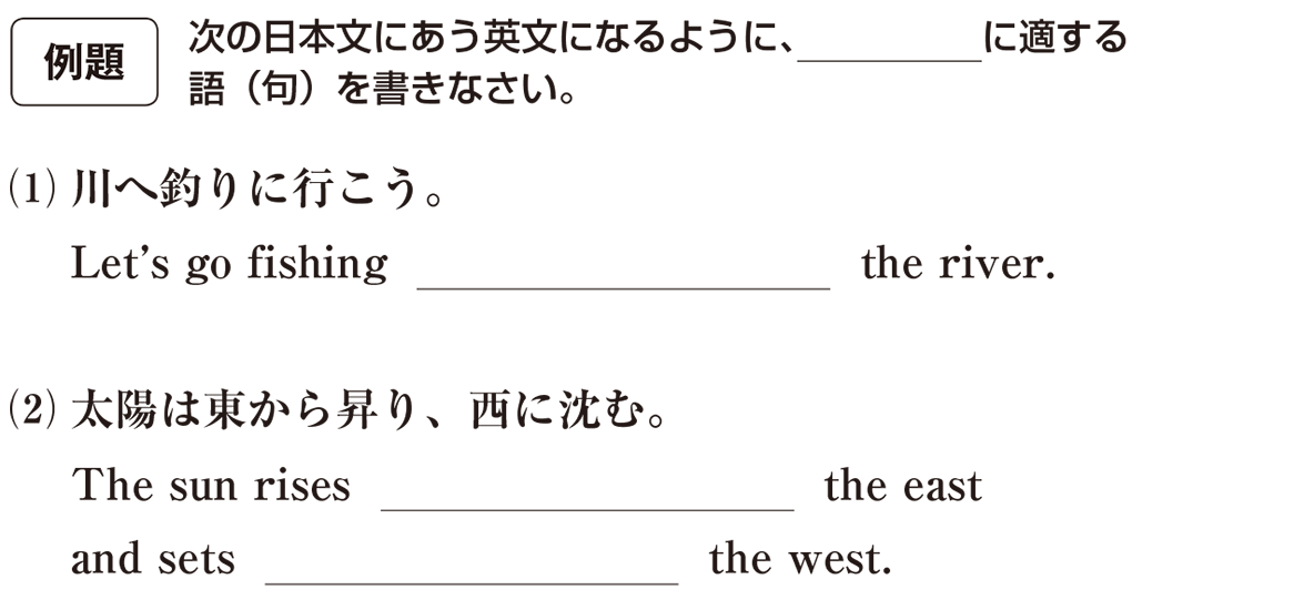 高校英語文法 前置詞15・16の例題(1)(2) アイコンあり