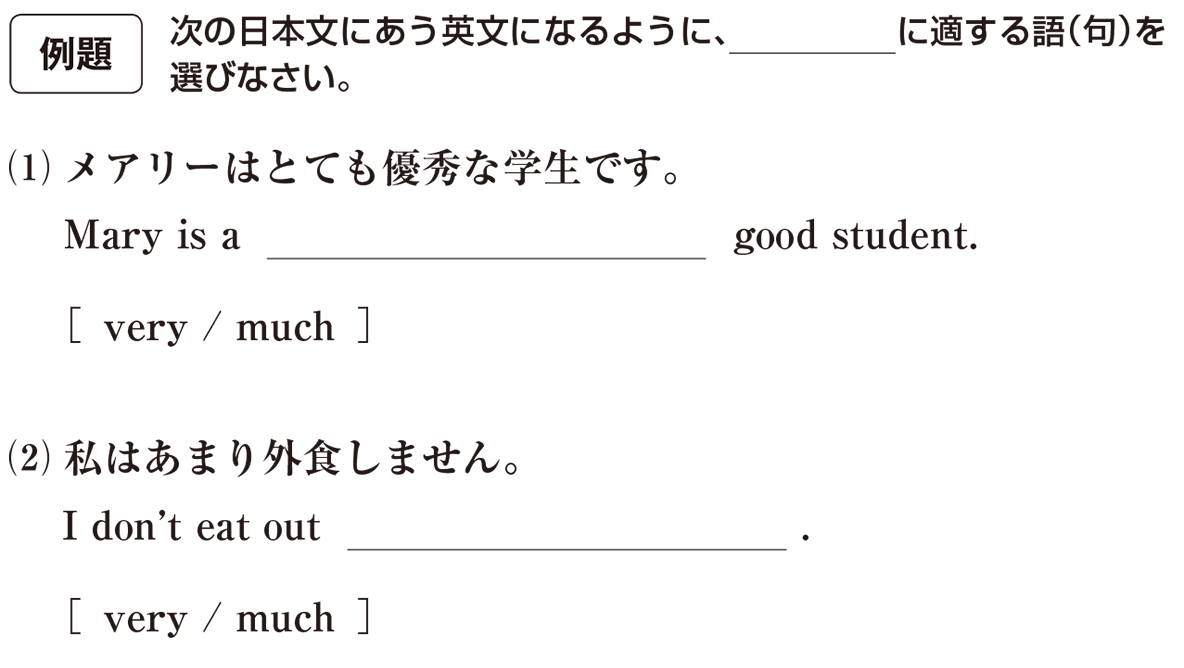 高校英語文法 形容詞・副詞19・20の例題(1)(2) アイコンあり