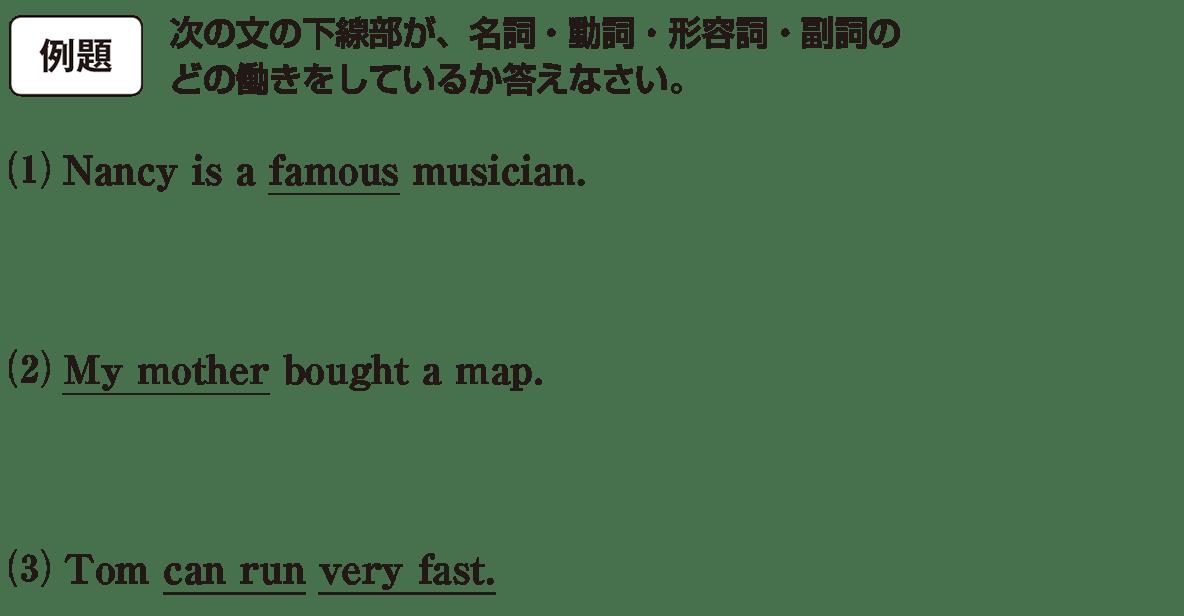 高校英語文法 5文型1・2の例題(1)(2)(3) アイコンあり