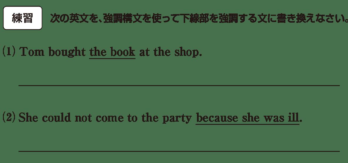 高校英語文法 強調・倒置・挿入・省略・同格3・4の練習(1)(2) アイコンあり