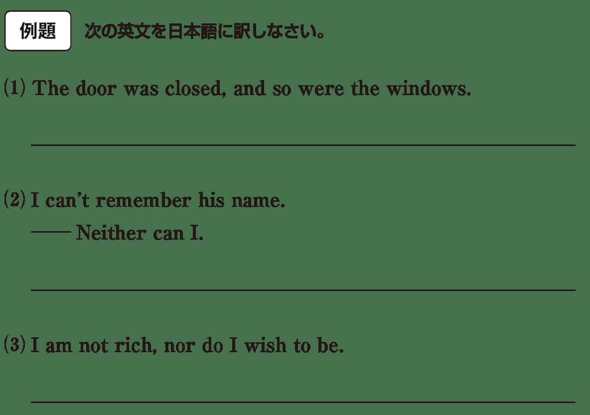 高校英語文法 強調・倒置・挿入・省略・同格7・8の例題(1)(2)(3) アイコンあり