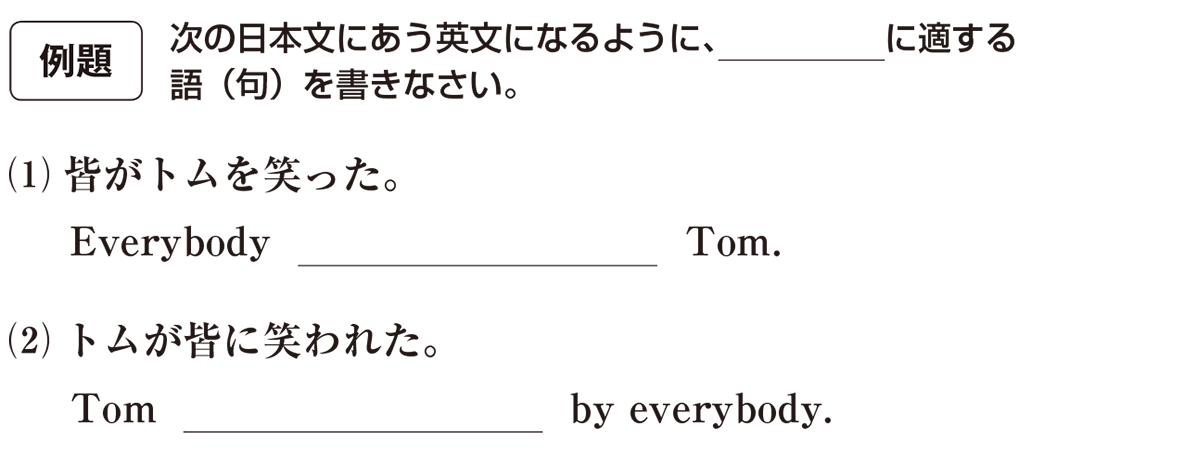 受動態9の例題(1)(2)