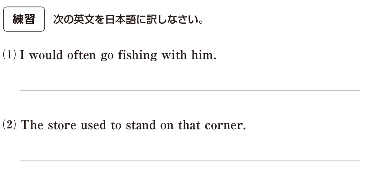 助動詞14の練習(1)(2) アイコンあり