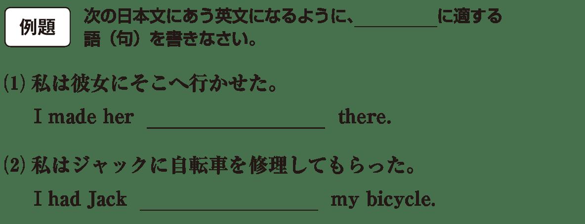 不定詞27の例題(1)(2) アイコンあり