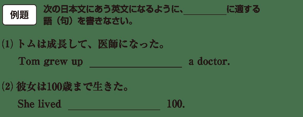 不定詞9の例題(1)(2) アイコンあり