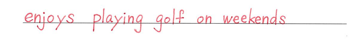 動名詞2の練習(1) 答え入り アイコンなし