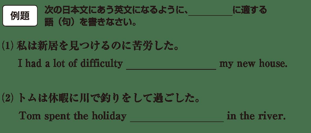 動名詞9の例題(1)(2) アイコンあり