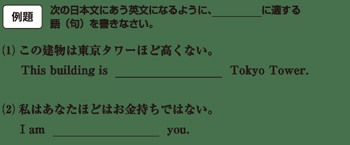 高校英語文法 比較29・30の例題(1)(2) アイコンあり