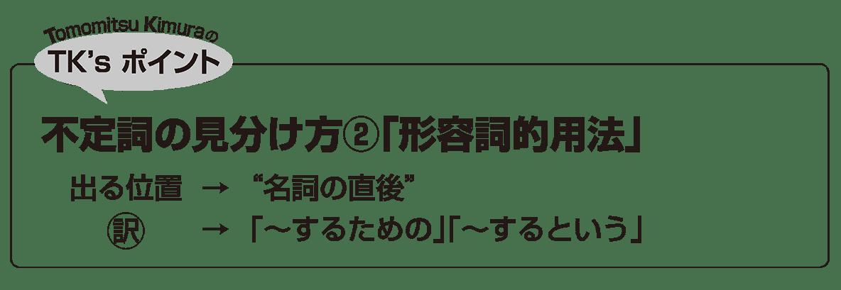 英語構文 準動詞の眺め方4 TK'sポイント