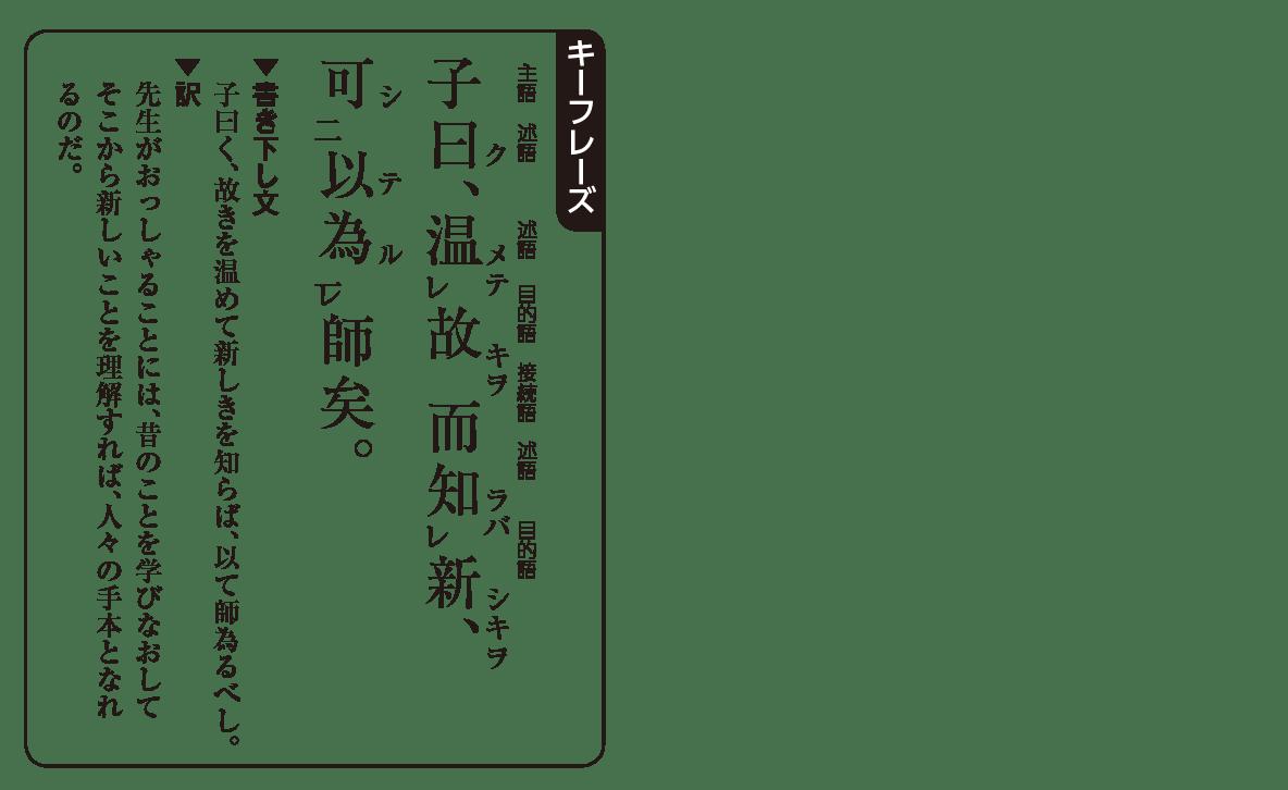 高校漢文 1章1 キーフレーズの図
