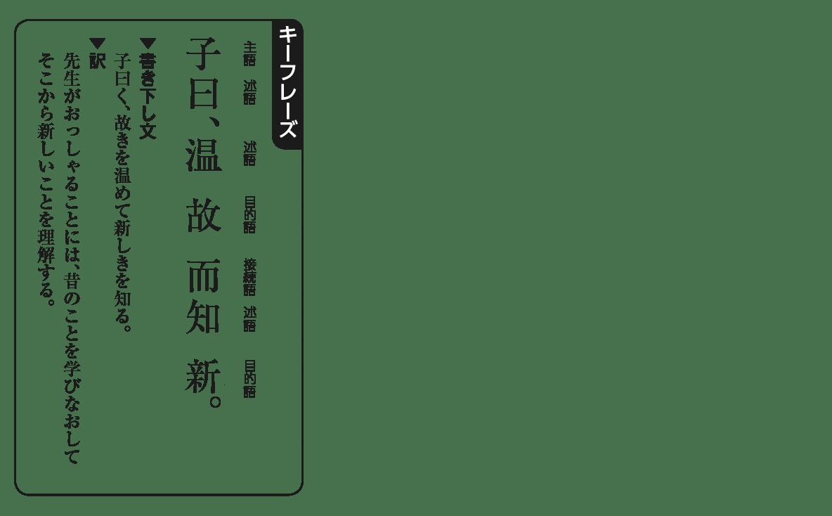 高校漢文1章2キーフレーズの図(返り点と送り仮名を消す)