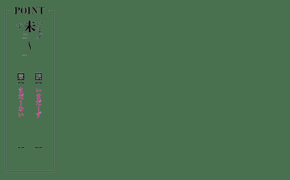 POINTの図(読み仮名追加 未の右側に「いま(ダ)」、左側に「ず」)