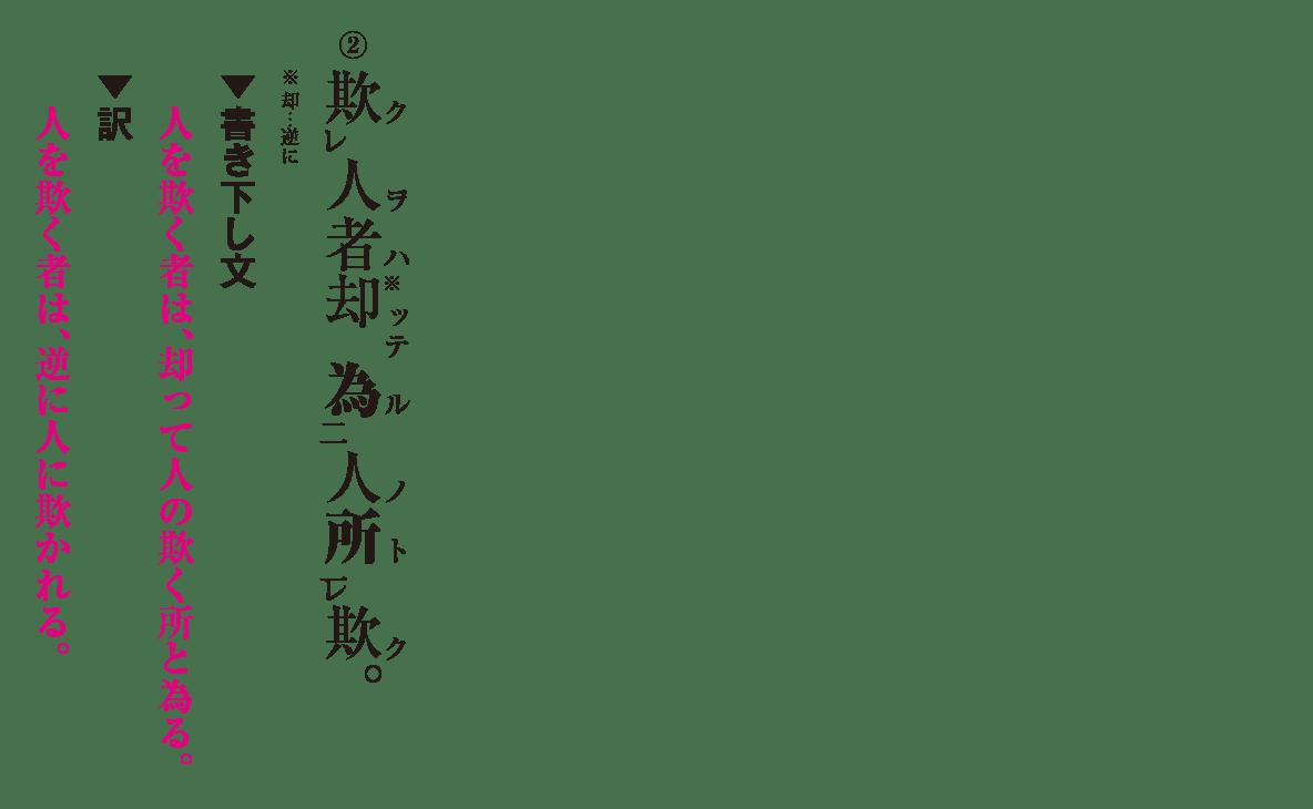 高校漢文 4章2 練習② 答え有り
