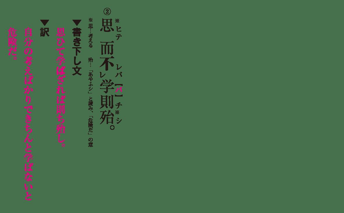 高校漢文 5章1 練習② 答え有り