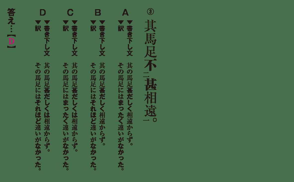 高校漢文 5章7 練習③ 答えあり