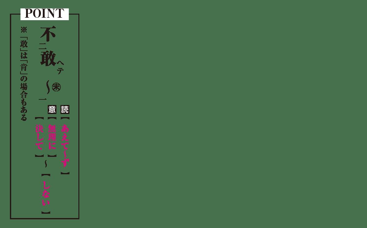高校漢文 5章9 POINTの図