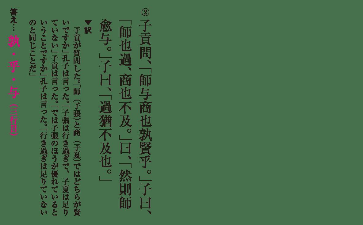 高校漢文 6章1 練習② 答え有り