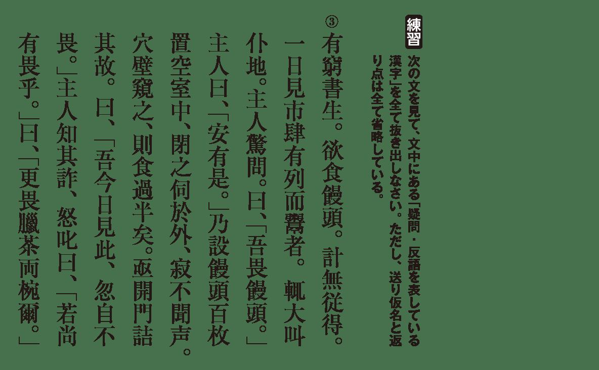 高校漢文 6章1 練習③ 答え無し