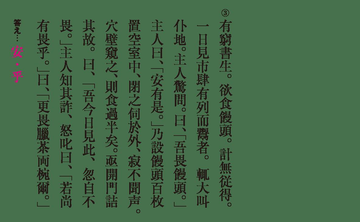 高校漢文 6章1 練習③ 答え有り
