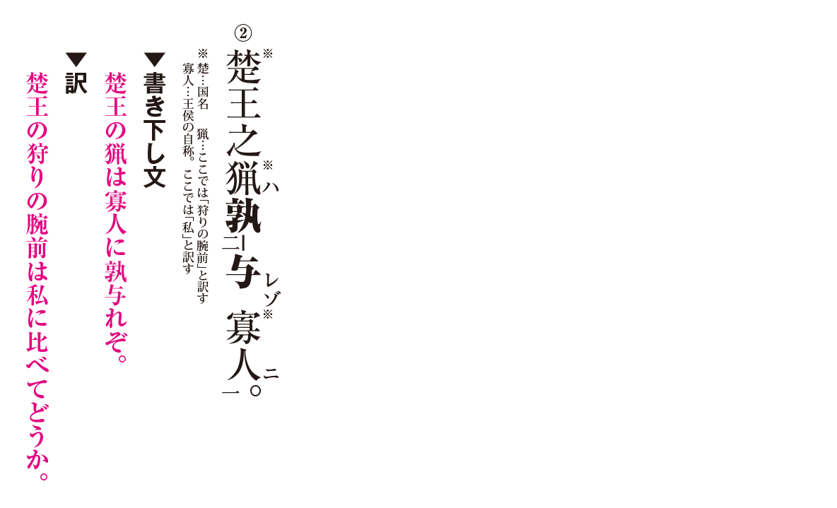 高校漢文 7章3 練習② 答え有り