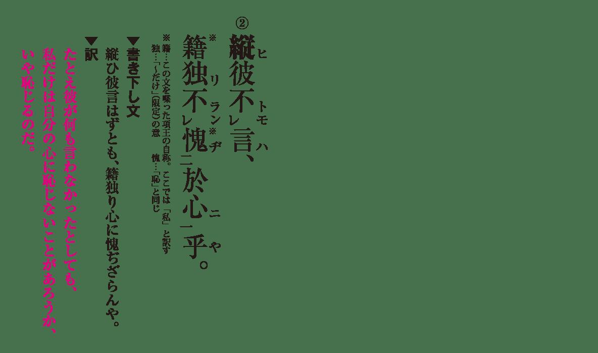 高校漢文 8章2 練習② 答え有り