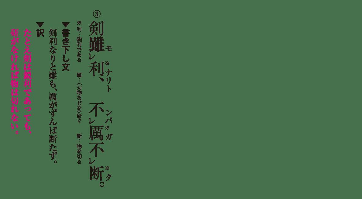 高校漢文 8章2 練習③ 答え有り
