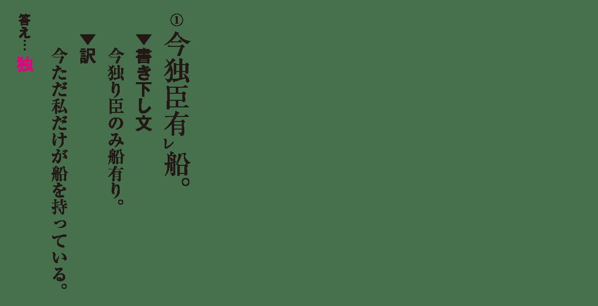 高校漢文 9章1 練習① 答え有り