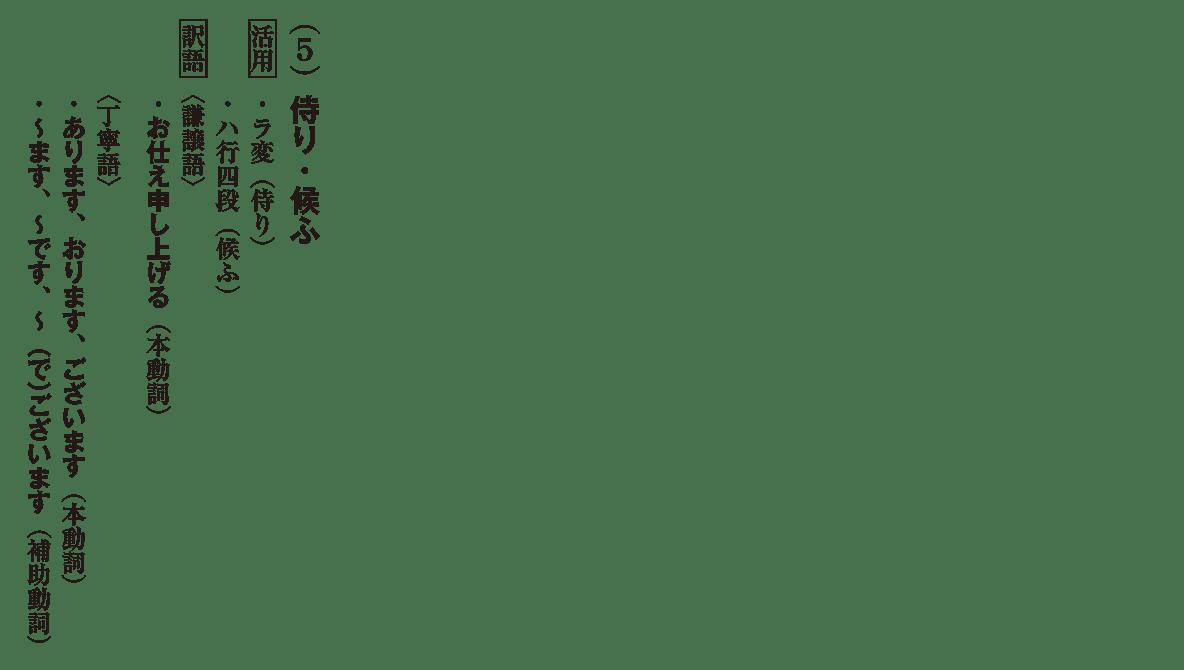 高校古文 5章1 「侍り・候ふ」