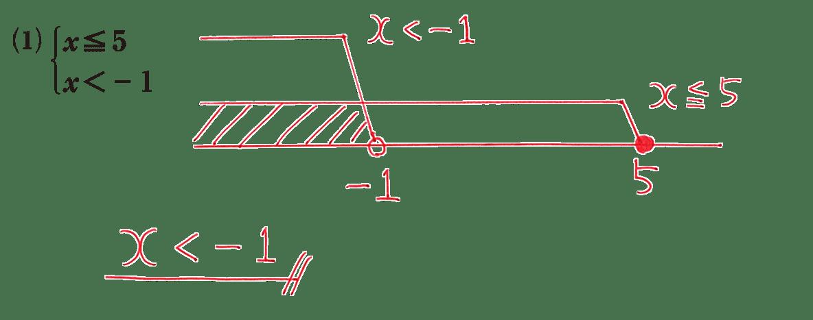 高校数学Ⅰ 数と式43 練習(1)の答え
