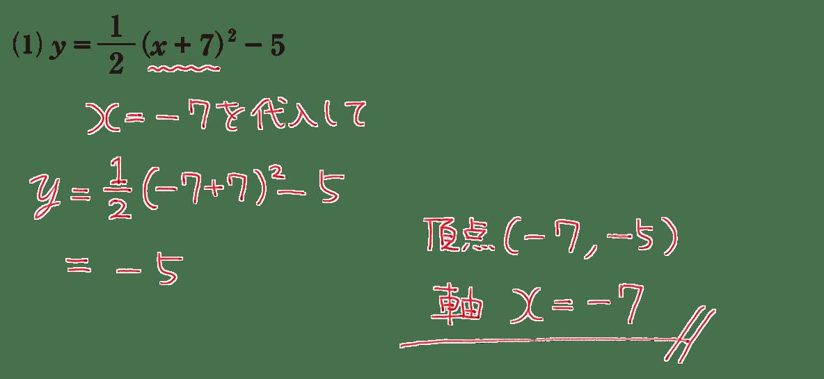 高校数学Ⅰ 2次関数12 練習(1)の答え